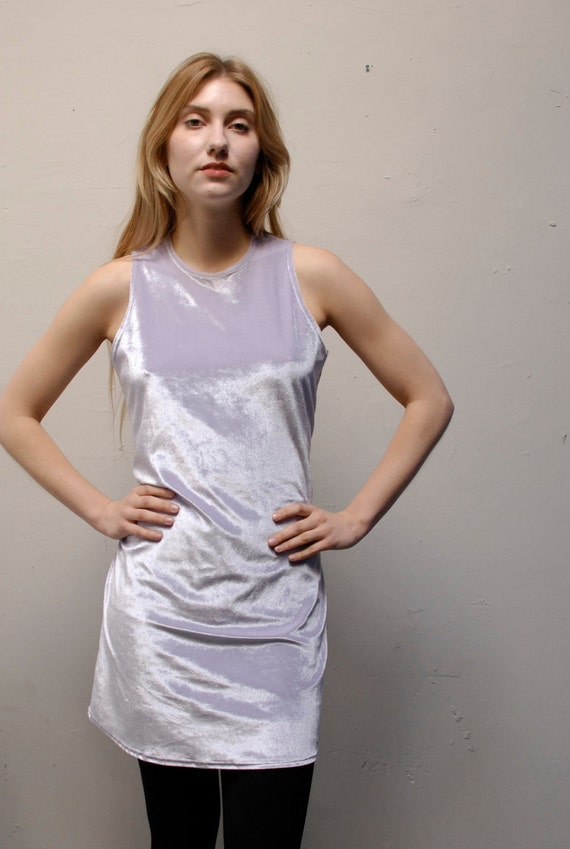 BODYCON lilac pastel VELOUR 80s CLUB dress