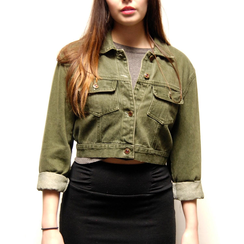 Olive Green Denim Jacket Photo Album - Reikian