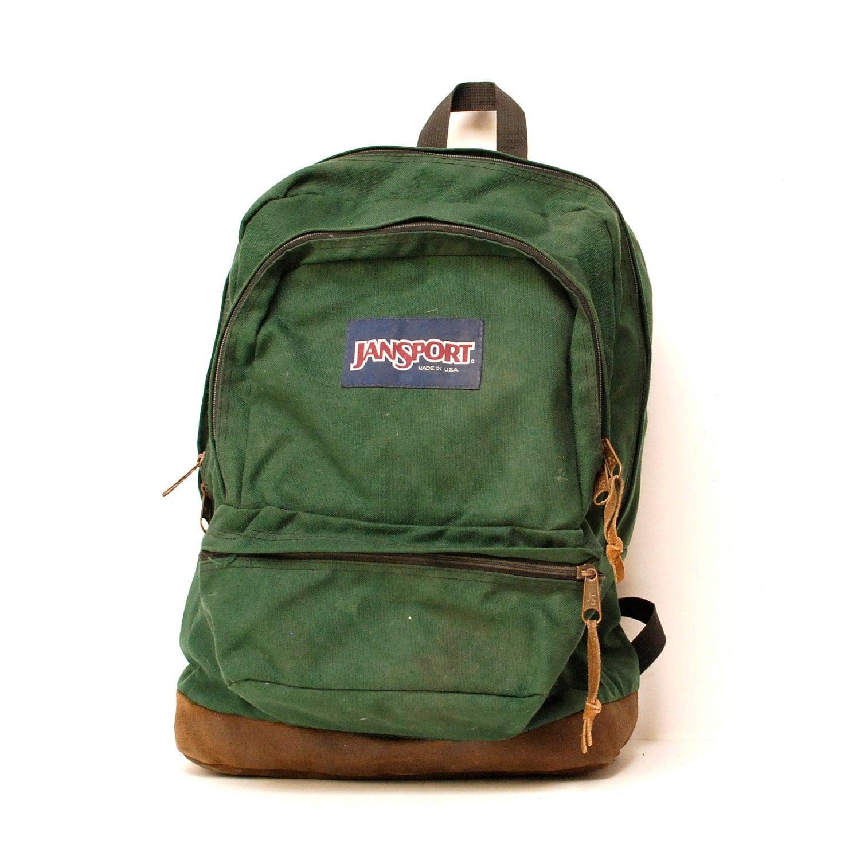 Green Jansport Backpack - Crazy Backpacks