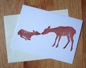 Dear Little Deer Single Notecard - Sable