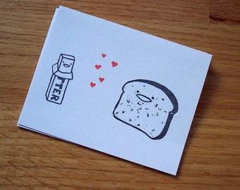 Butter Loves Toast Notecard Set