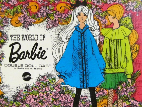 World Of Barbie Case White Double Doll Case Vintage 1968