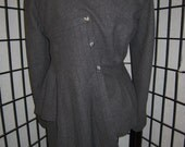 Grey Wool Couture Upcycled blazer (SOLD)