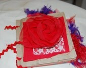 Red and Purple  Paperbag Scrapbook album... red hat society