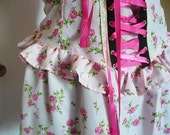 MISS ALPHABET pink floral corset style dress size 2X 3X