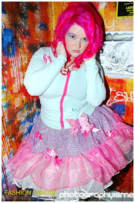 MISS ALPHABET mint green pink bow rhinestone zip up cardigan L