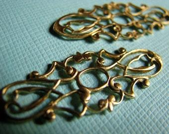 Airy raw brass filigrees (2)