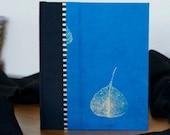 Journal Blue Bodhi Leaf - Notebook, Diary, Travel Journal, Writing Journal, Gratitude Journal