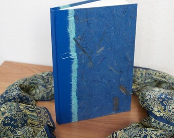 Journal Blank  Blue Banana Bark-Journal, Notebook, Lined Journal, Blank Journal, Sketchbook. Writing Book