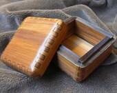 Satin Smooth Cedar Jeweler's Box