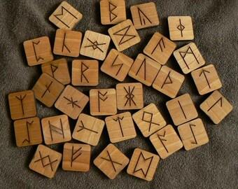Anglo Saxon Square Tile Runes