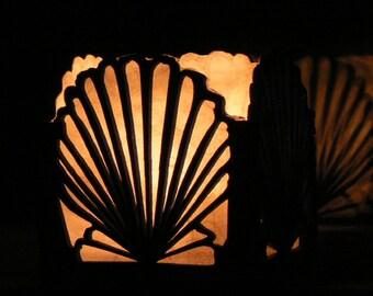 Shell Candle Shade Luminary