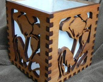 Oriental Poppy  Screen Candle Box