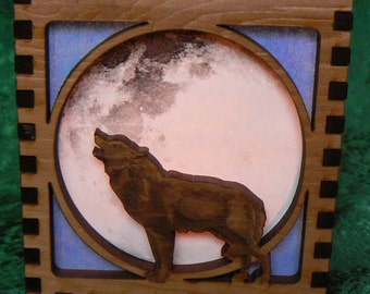 Wolf Song Oriental Candle Shade