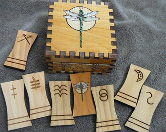 Painted Dragonfly Witches 8 Rune Set