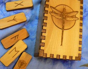 Dragonfly Elder Futhark Rune Set