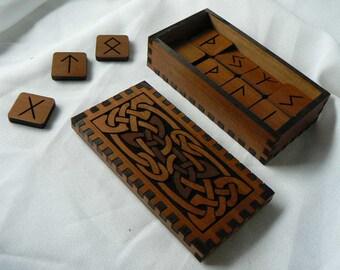 Knots within Knots Elder Futhark  Box and Rune Set