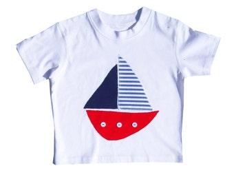 Boat T-shirt  / Boys Tee Shirt / Baby Shirt / Children's Clothes