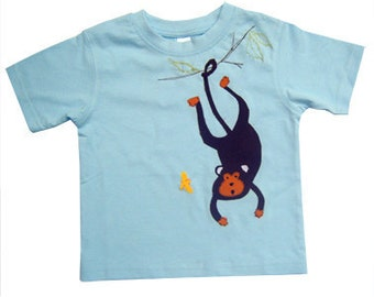 Boys Monkey T-shirt / Tee Shirt / Baby Shirt / Children's Clothes