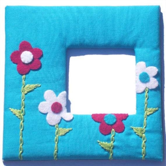 Flower Photo Frame / Girls / Children's Picture Frame / Nursery Decor