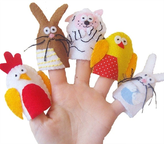 Toys Easter Magazine : Easter animals finger puppets children s babies toys