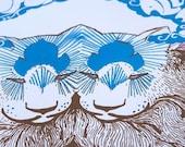 Silver A p p l e s Handprinted Silkscreen Poster