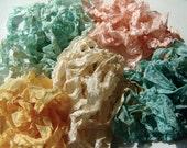 Shabby Chic wrinkled ribbon stained crinkled seam binding