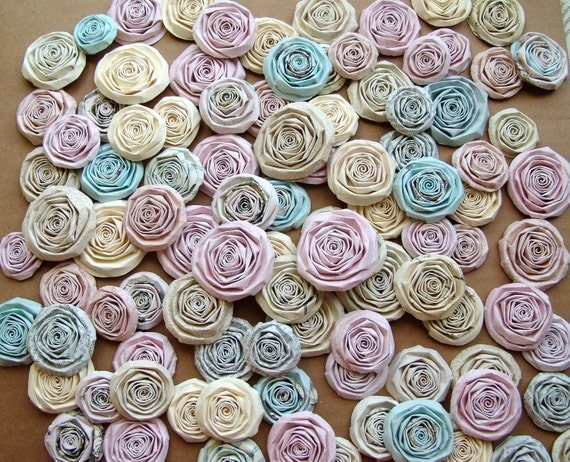 Wedding paper flowers set of 50 handmade roses CUSTOM