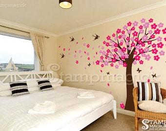 Cherry Blossom Tree Wall Decal - cherry blossom tree wall decal wall mural graphics decor - K018