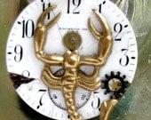 Clockwork Scorpio - OOAK Steampunk scorpian necklace by ClockworkZero designs