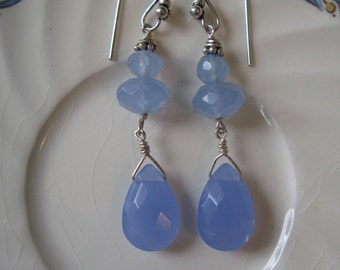 Ocean Blue Chalcedony Earrings