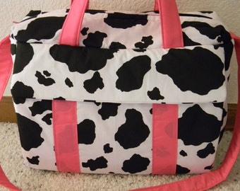 Cow print Diaper Bag w/change pad by EMIJANE