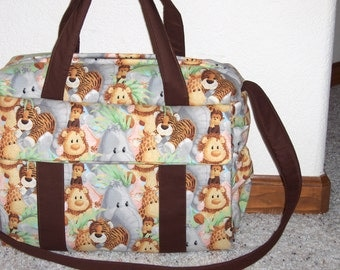 Jungle Babies Diaper Bag w/change pad by EMIJANE