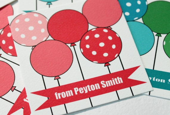 Kid / Children Balloon Calling Cards / Gift Tags - set (25)