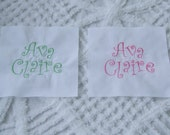 8 Inch Embroidered Cotton Personalized Name Rag Quilt Block Square