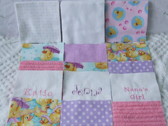 Complete Baby Girl Rag Quilt Kit Cotton By
