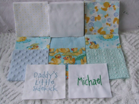 Items Similar To Complete Baby Boy Rag Quilt Kit Cotton