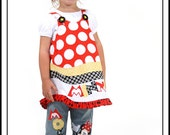 Mickey Minnie Happy Couple Applique Jeans Set---Lil Peas Custom Boutique