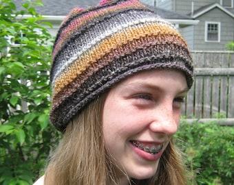 Handknit  Hat, Silk, Wool, Child, Adult, Noro Silk Garden. Handmade by FeltedFriends