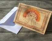 Fire Tree - Greeting card - Ethnic design