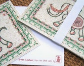 Green Elephant - postcard