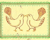 Lovebirds - Greeting Card