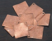 10 pcs ----------of  antiqued Copper-plated steel wavy diamond drop 15mm