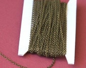 10ft of Antiqued Brass Chain round cable chain 2X2.5mm