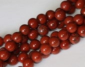 16 inch strand of 8mm Red Jasper round beads