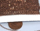 10ft of Antiqued Copper Tiny Flat Soldered Cable Chain 2mm