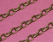 45 ft  Antique brass chain finished over iron large cable chain 6.5x4mm- Open Links