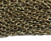 45 ft of Antiqued Brass finished texture cable chain 3x5mm- unsoldered