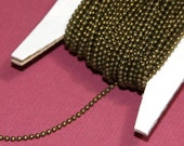 10ft  of antiqued brass 1.5mm ball chain