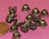 Wholesale  1000 pcs of  Antiqued Brass filigree beads cap 9mm YDN2359